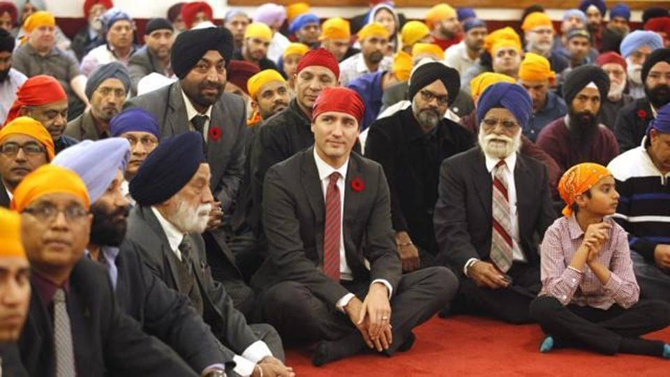The government of Canadian Prime Minister Justin Trudeau (centre) has been dogged by a series of ethics issues recently.