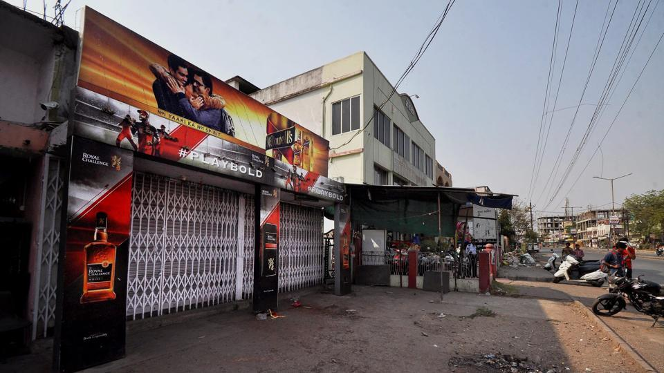 A liquor shop in Nagpur that was closed in keeping with a Supreme Court directive to shut liquor vends located within 500 of national and state highways across the country.