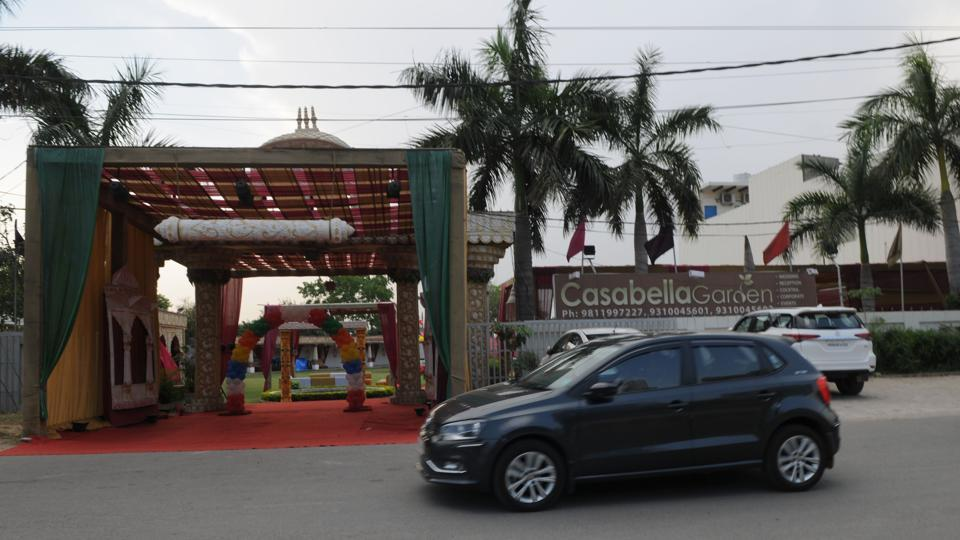 A marriage hall on Sohna Road in Gurgaon.