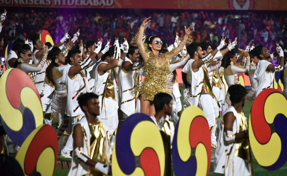 Amy Jackson was the star performer at the Indian Premier League opening ceremony. (PTI)