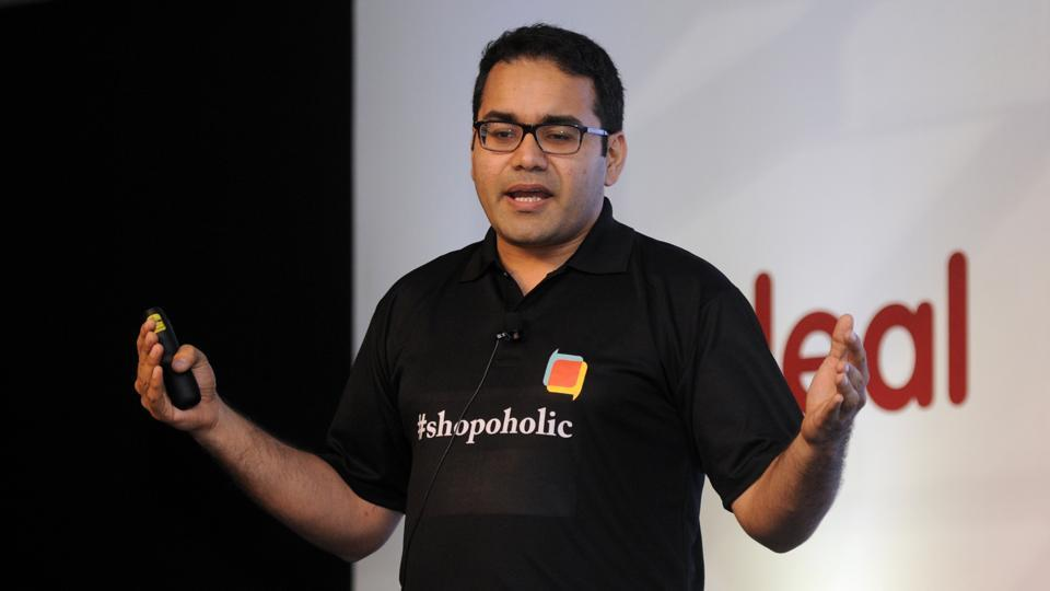 "Snapdeal CEO Kunal Bahl addresses the media during the launch of Zero Commission Mobile Marketplace "" Shopo""."