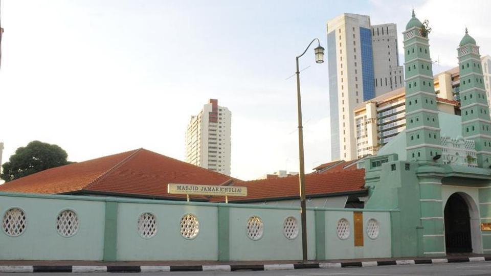 File photo of Singapore's Masjid Jamae Chulia, whose chief imam, Nalla Mohamed Abdul Jameel, has been fined 4,000 Singapore dollars for remarks against Christians and Jews during a Friday sermon.