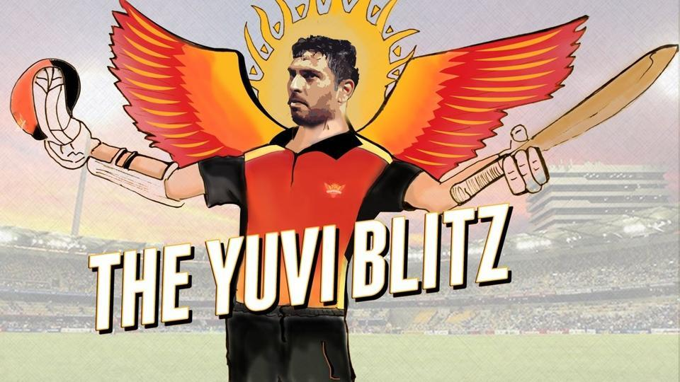 Yuvraj Singh was hailed on social media after the turned back the clock to score a quick-fire 62 for Sunrisers Hyderabad in the IPL 2017 opener against Royal Challengers Bangalore.
