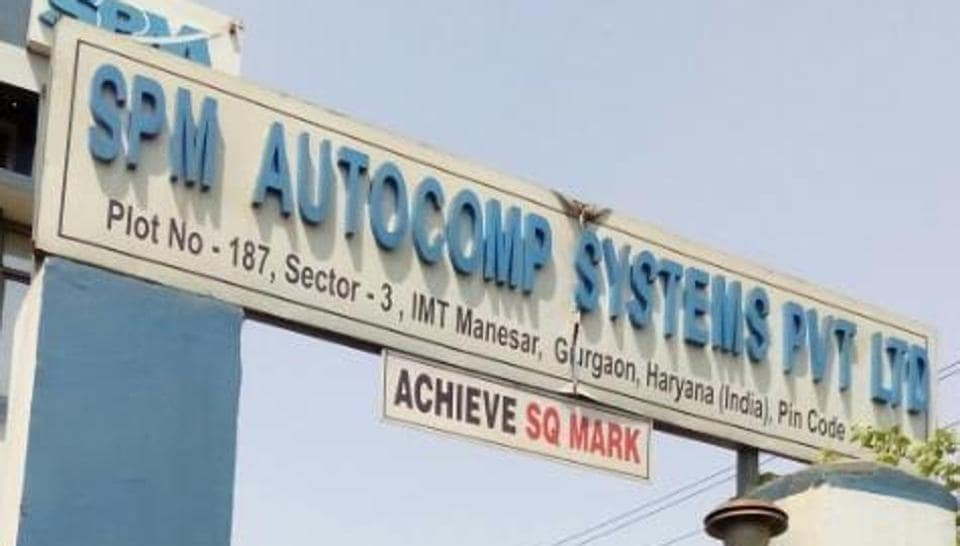 he management of the company, Spm Autocomp Systems Private Limited, which supplies parts to several big companies, shut the plant soon after the incident at 5am.