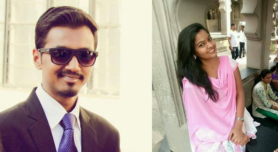 (Left) Sarthak Wakchoure and Shruti Dumbre, who were found murdered at Lonavla.