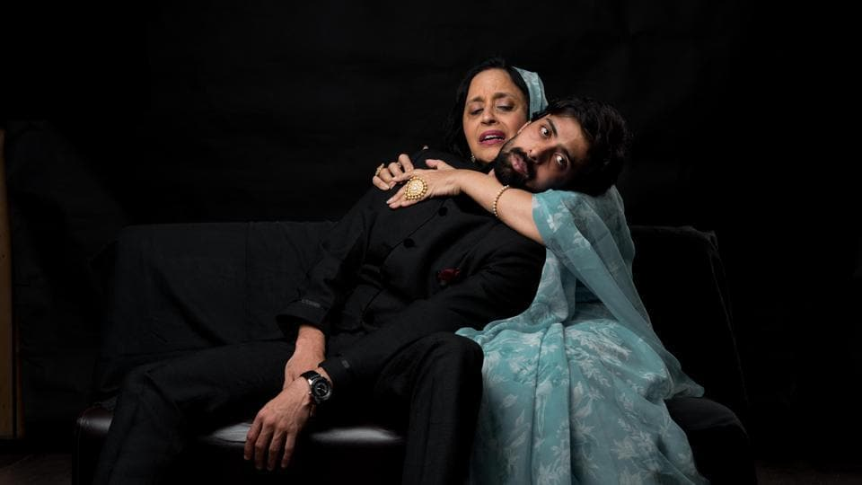 Ila Arun and her co-stars in a still from the play