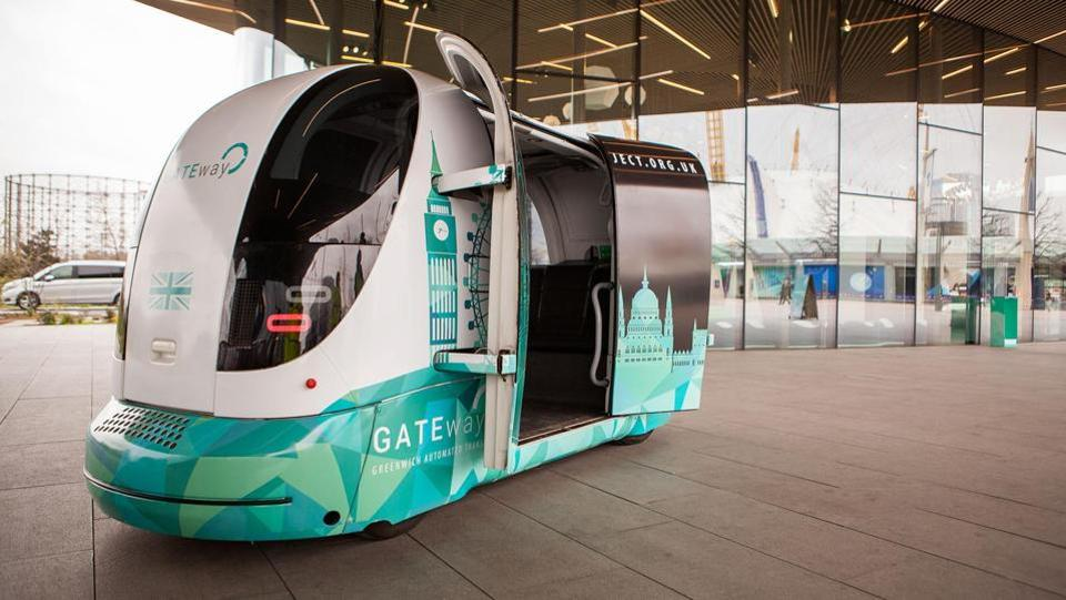 The driverless shuttle of the GATEway Project by Oxbotica is doing trial runs on the route to Greenwich in London for the next three weeks.