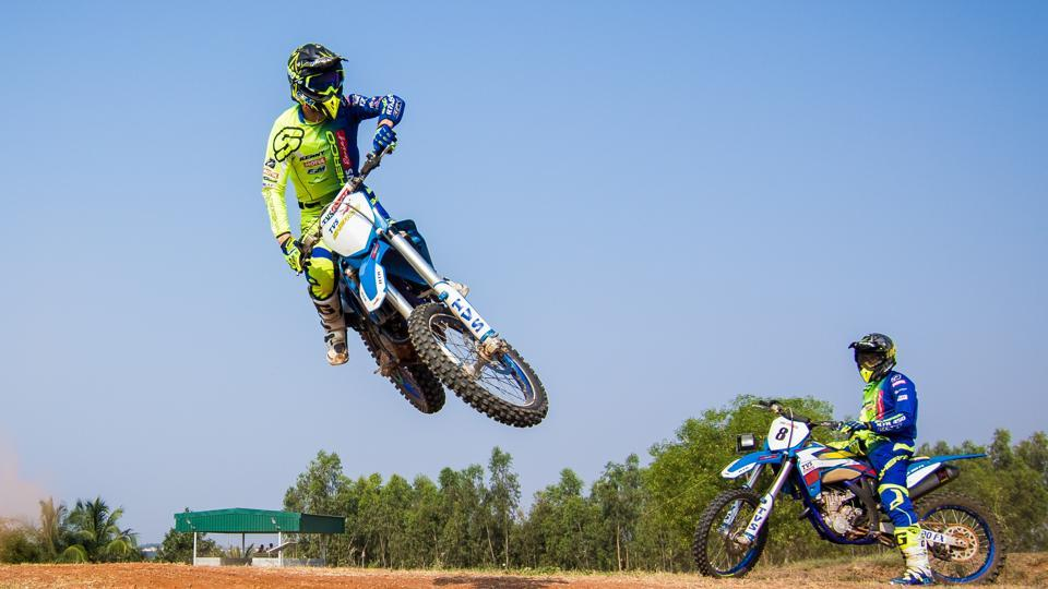 "TVS Racing riders train for the 2017 India Baja Dakar Challenge rally at the team's test track in Anekal, near Bengaluru. The team would be hoping their riders -- Indians R Nataraj, KP Aravind, Abdul Wahid Tanveer and France's Adrien Metge corner the glory at the Baja to be held around Jaisalmer, Rajasthan, from April 7-9. However, Portugal's Joaquim Rodrigues a.k.a ""J-Rod"", who leads the Hero Motosports Team's challenge in the absence of the injured CS Santosh, will have other ideas."