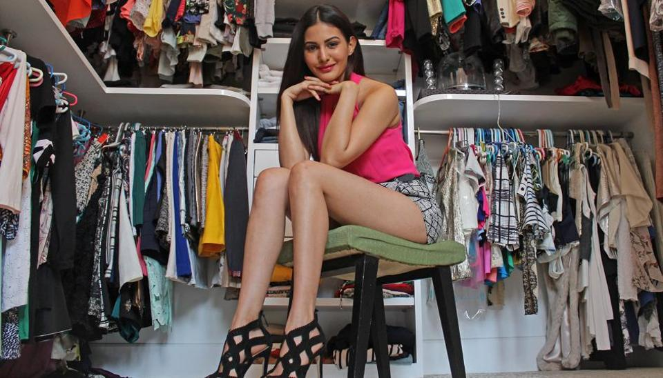Actor Amyra Dastur at her residence in Breach Candy