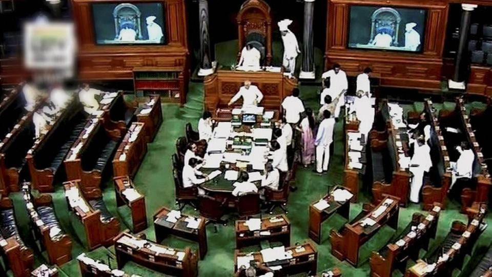 The Lok Sabha witnessed utter chaos as Shiv Sena MPs, including Union Minister Anant Geete, surrounded civil aviation minister Ashok Gajapathi Raju after he refused to heed to their demand for revoking the flying ban on Gaikwad.