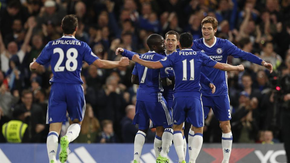 Eden Hazard helped Chelsea F.C. stay on top of the Premier League with a 2-1 win over Manchester City F.C. but Tottenham Hotspur F.C. ensured that they stayed in touch with a dramatic 3-1 win over Swansea.