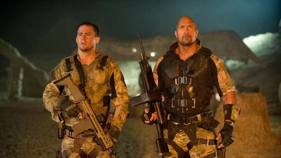 Channing Tatum and Dwayne Johnson in a still from GI Joe: Retaliation, which was a sem-reboot of GI Joe: The Rise of the Cobra.