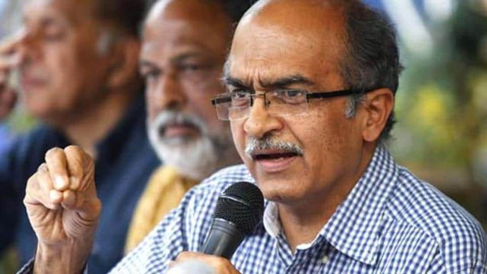 Prashant Bhushan later apologised for the tweet and said it was inappropriately framed.