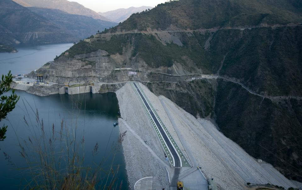 Tehri dam at tehri,project of tehri hydro development corporation photographed on 4th nov 2009 Ramesh Pathania