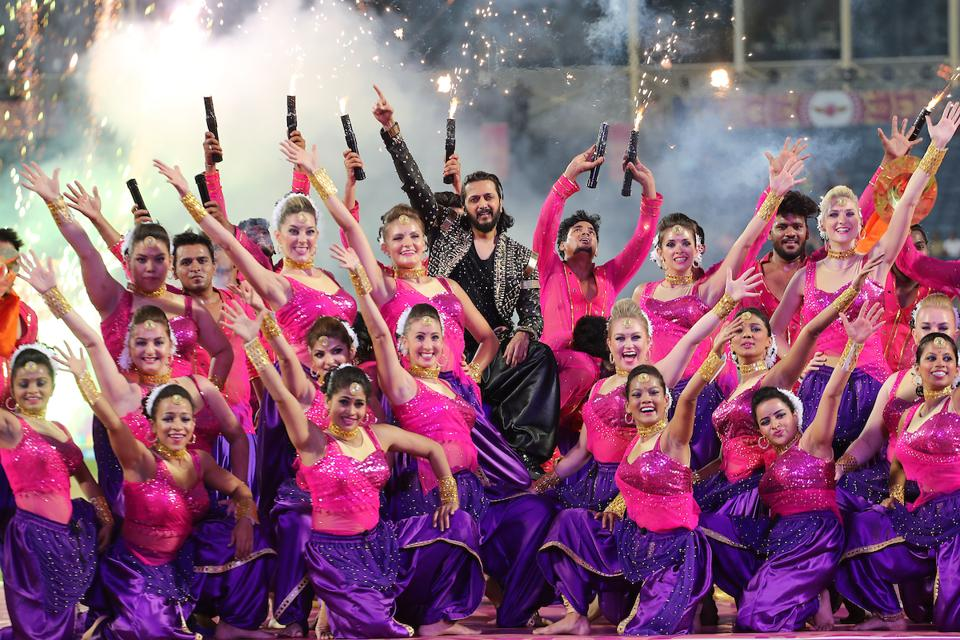 Riteish Deshmukh, along with Shamlili Kolgade, were the main attractions of the opening ceremony. (BCCI)