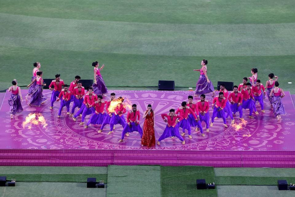 Singer Shalmili Kolgade performs at the opening ceremony in Pune. (BCCI)