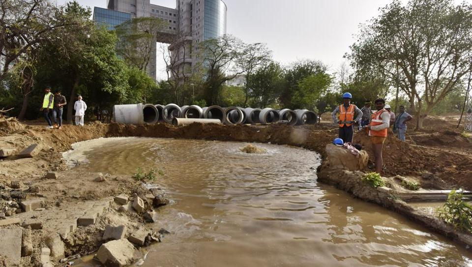 Millions of gallons of treated water was wasted after the pipeline at Signature Tower was damaged.