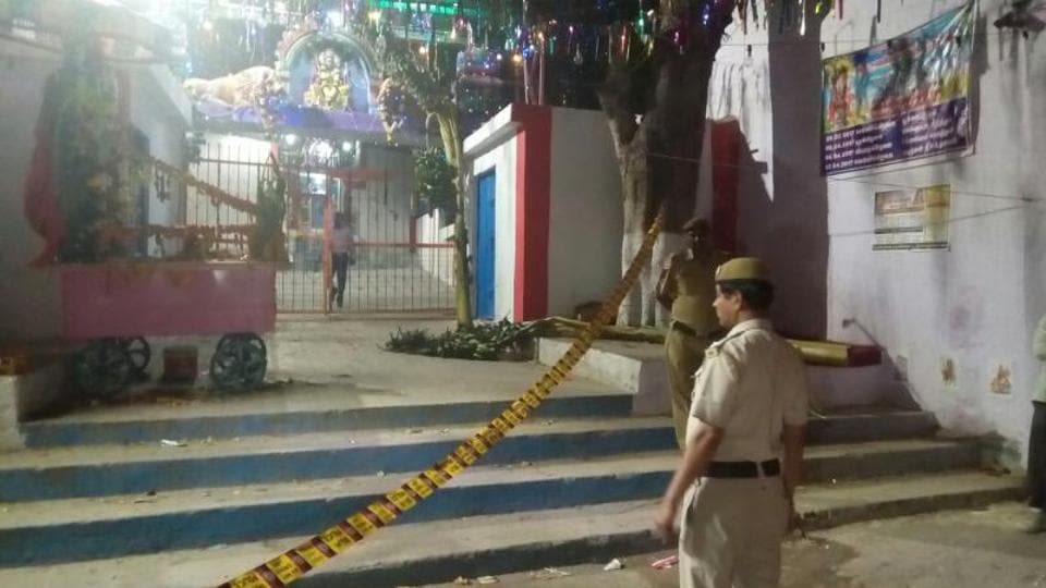 The incident took place at 10pm on Thursday inside this temple in Ambedkar Nagar. The victim, Permal, had come here with his wife.