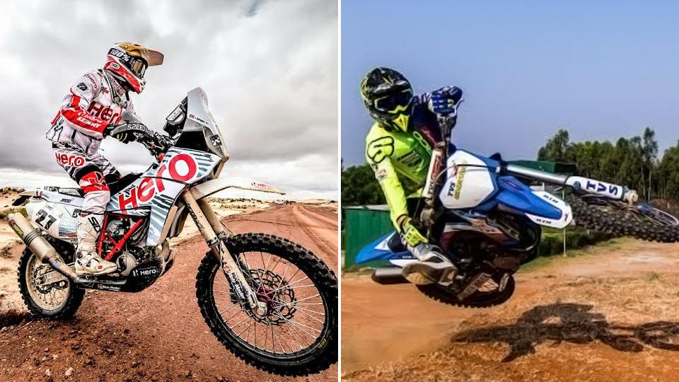 """HeroMotosports may have the more seasoned rider in Joaquim """"J-Rod"""" Rodrigues but that advantage could get negated on the fast but unstable dunes around Jaisalmer because of TVSRacing's enduro bikes."""