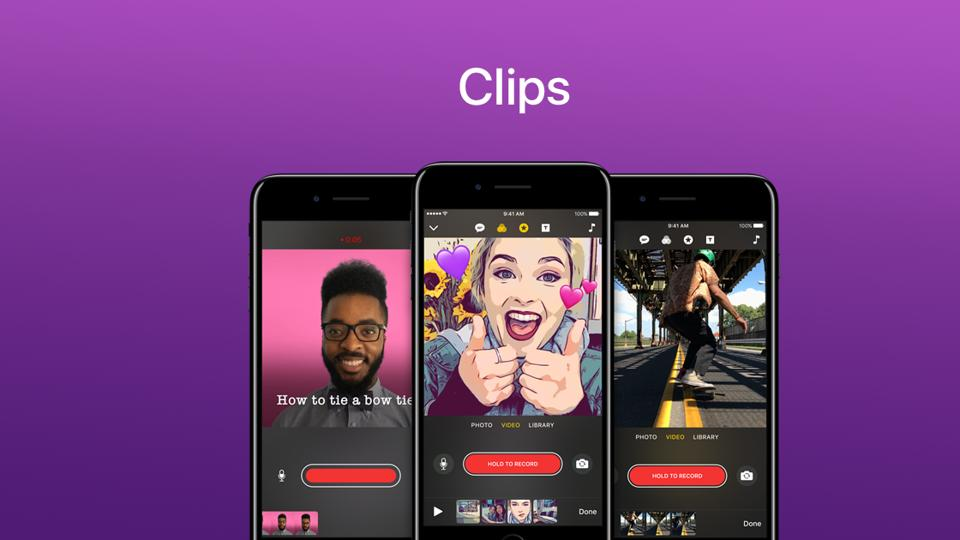 The new video editing app from Apple's stable, called Clips, is now available for free on the Apple App Store.