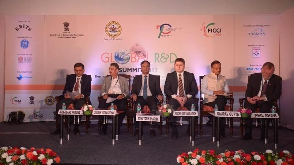Representatives of India and Russian at the Global R&D Summit 2017.