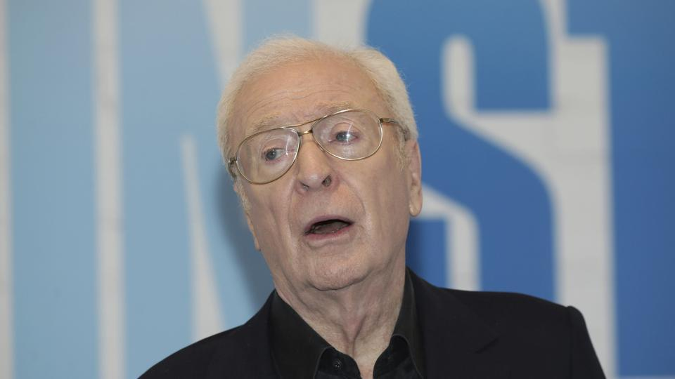 Michael Caine at a hotel in London before attending a screening of Going in Style.