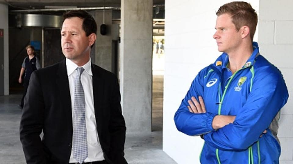 Former Australian cricket captain Ricky Ponting (L) says he is not too sure if taking over the Rising Pune Supergiants (RPS) captaincy in the IPL will be helpful for campatriot and current Australia captain Steve Smith (R).