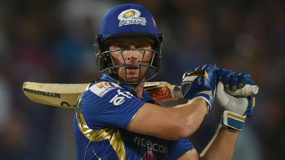 Mumbai Indians cricketer Jos Buttler plays a shot. (AFP)
