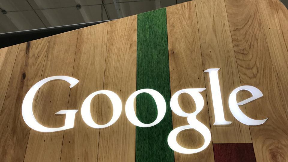 A Google logo is seen in a store in Los Angeles, California, U.S.