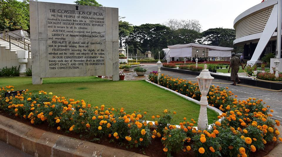 NATURE RULES: The Vidhan Bhavan at Nariman Point in south Mumbai is home to 30 flowering plants. Inaugurated by former Prime Minister, the late Indira Gandhi on April 19, 1981, the site hosts seasonal flowers for three months – April, May and June.  (Anshuman Poyrekar/HT Photo)