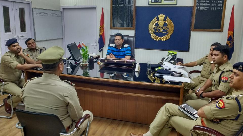 Eighteen sub-inspectors were called for an interview at the residence of the Ghaziabad SSP on Friday.