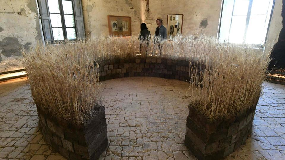 People visit the Shit Museum (Museum of Poop) in the Castelbosco castle of Gragnano Trebbiense on march 28, 2017.