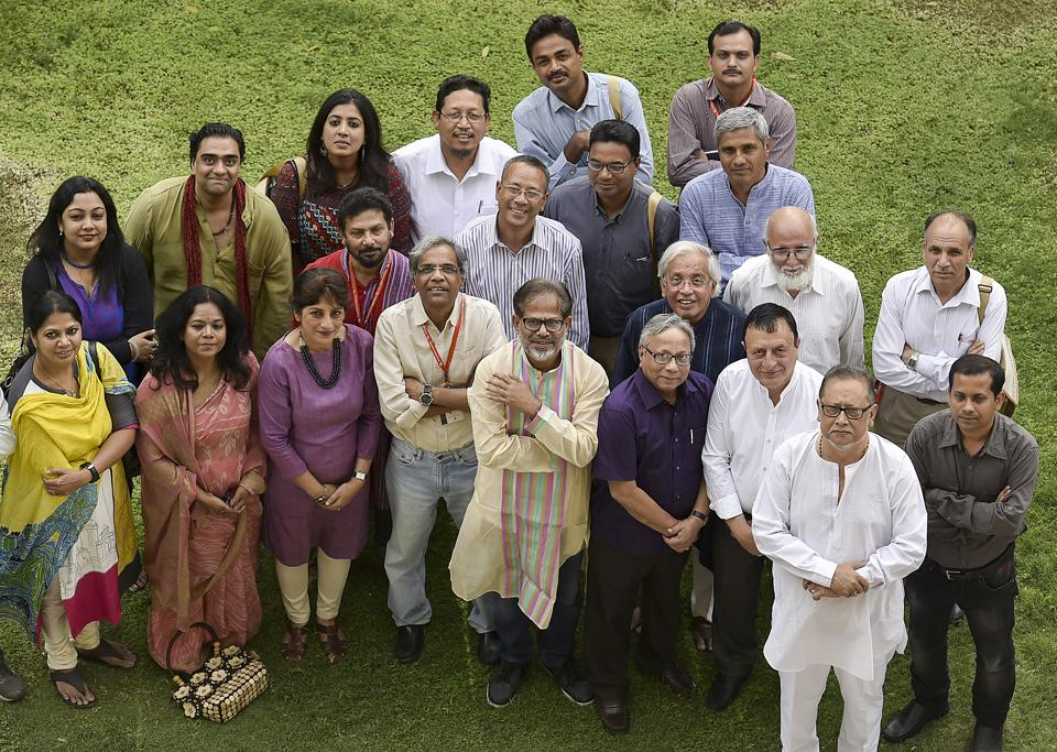 Some of the poets participating in the Poetry Biennale in Delhi