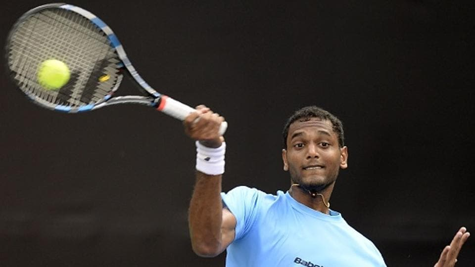India's Ramkumar Ramanathan took three hours and three minutes to beat Temur Ismailov and hand hosts a 1-0 lead in the Davis Cup Asia/Oceania Zone Group 1 tie in Bengaluru. In the second singles Prajnesh Gunneswaran beat Sanjar Fayzieb to give India 2-0 advantage going into the doubles rubber.