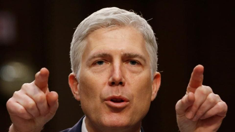 US Supreme Court nominee judge Neil Gorsuch testifies during a third day of his Senate Judiciary Committee confirmation hearing on Capitol Hill in Washington, U.S., March 22, 2017.
