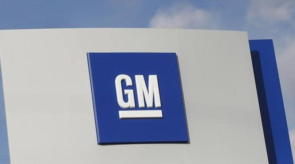 The GM logo is seen in Warren, Michigan, US.