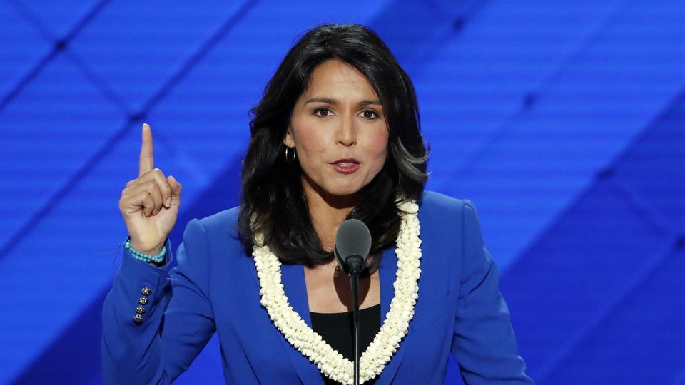 US Congress lawmaker Tulsi Gabbard appears to be the lone voice in opposing Trump's decision to carry out missile strikes against the Syrian regime.