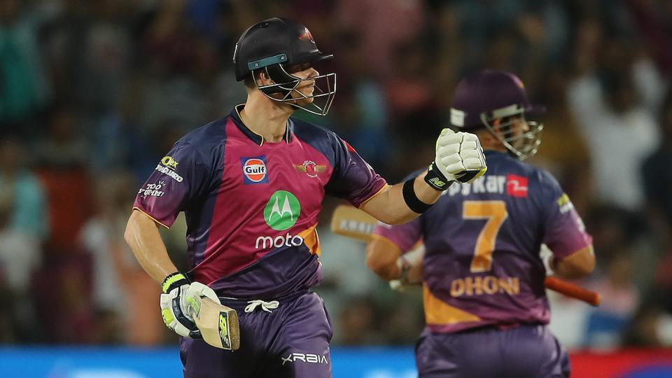 Rising Pune Supergiants captain Steven Smiths celebrates the win against Mumbai Indians. (BCCI)