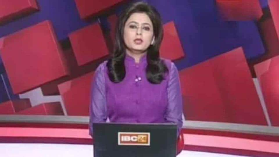 IBC-24 news anchor Supreet Kaur reads out the bulletin.