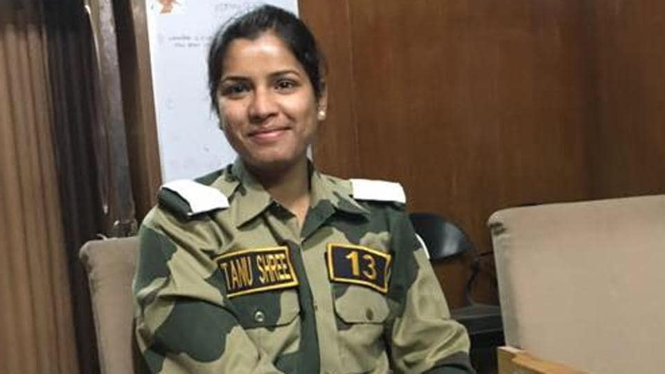 BSF's first woman combat officer, 25-year-old, Tanu Shree Pareek.