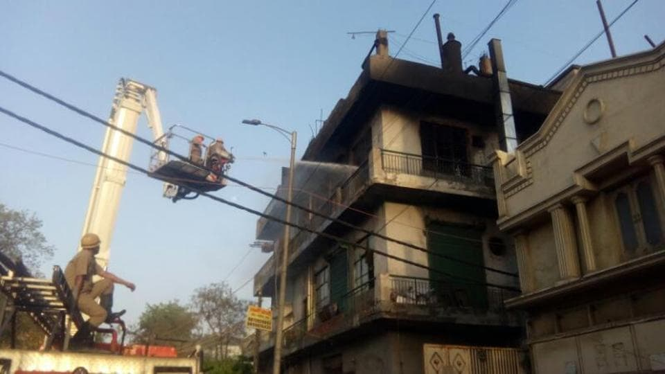Delhi fire department officials said at least 13 fire tenders were rushed to the spot after the fire was reported around 3.50pm on Saturday.