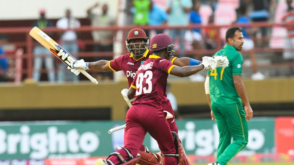 West Indies chased down a target of 300-plus for the first time in ODIs as they defeated Pakistan by four wickets in Guyana thanks a to a magnificent 91 off 58 balls by Jason Mohammed.