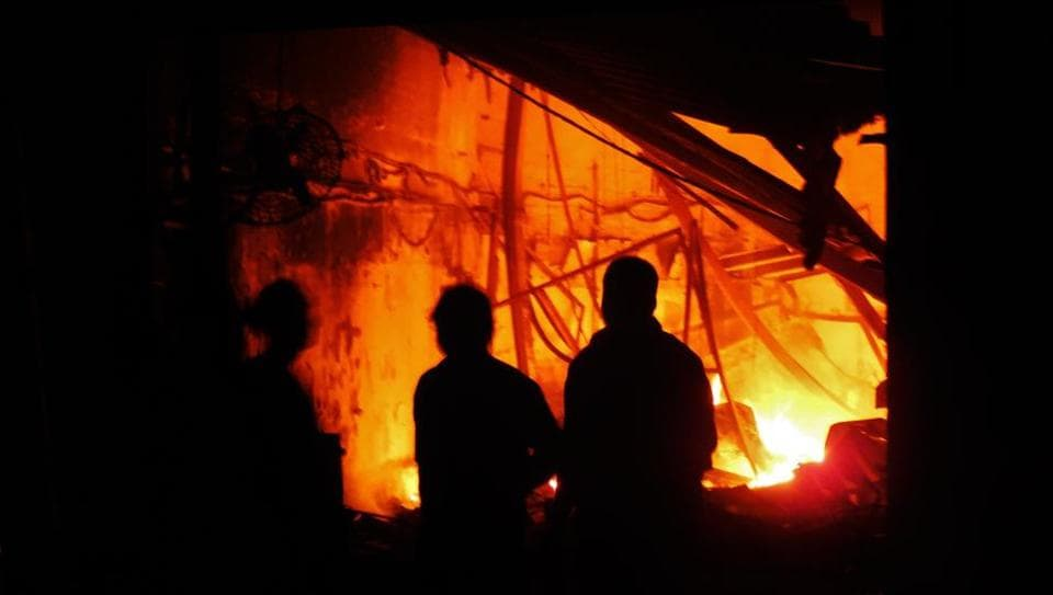 Representative Image: Police said a school building in Yarigund village of Budgam district was torched by some miscreants.