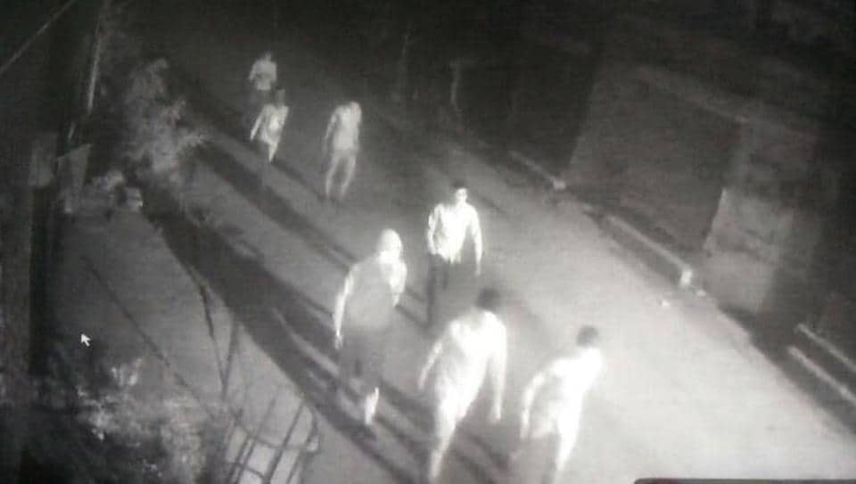 CCTV footage of the accused near Durga Colony, Focal Point area, in Ludhiana on Friday.
