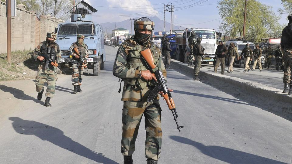 Protests broke out in Srinagar on Friday after a CRPF vehicle on election duty hit a car, leading to the death of its driver and injuries to three others.