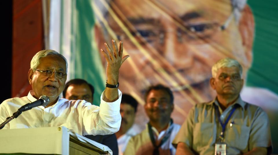 Bihar chief minister Nitish Kumar launched JDU's campaign for MCD elections in a rally at Burari on Saturday.
