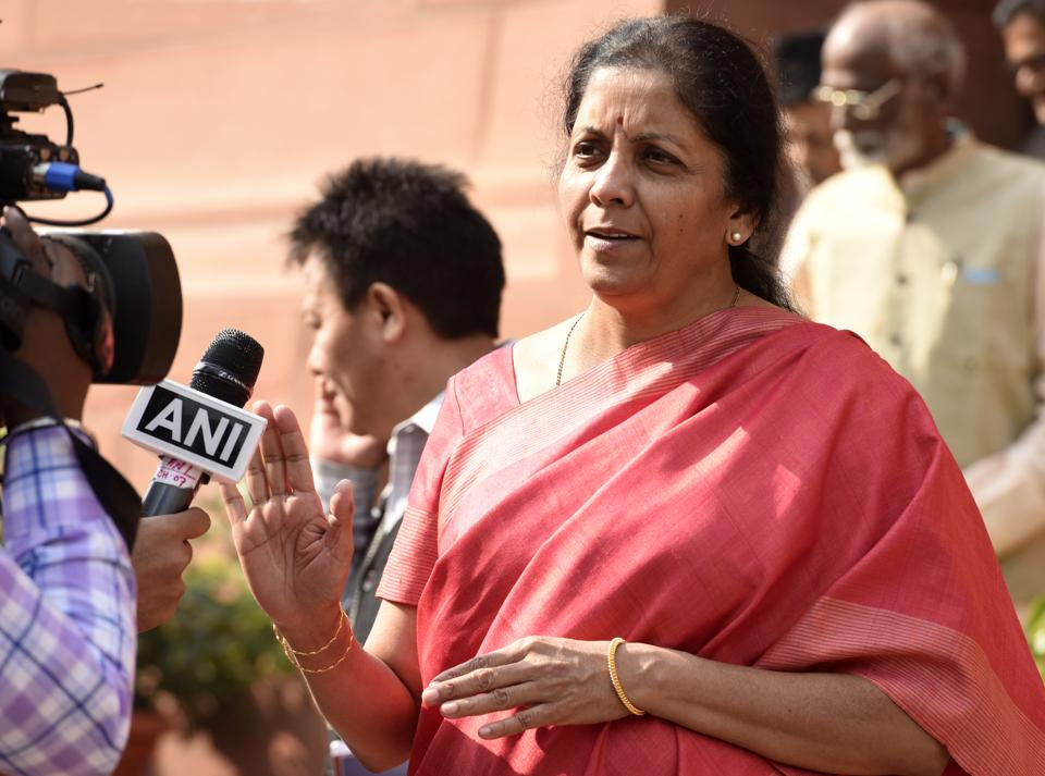 Commerce minister Nirmala sitharaman during the Winter Session of Parliament in New Delhi.