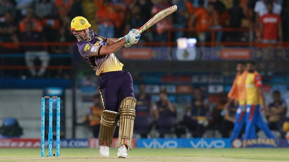 Chris Lynn en route to his 93* against Gujarat Lions. (BCCI)