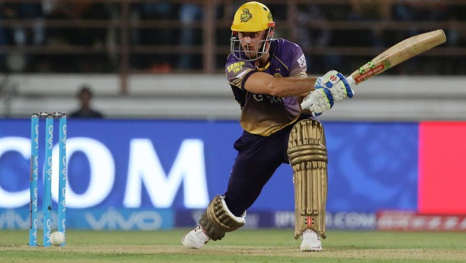 Chris Lynn of Kolkata Knight Riders plays a shot. (BCCI)