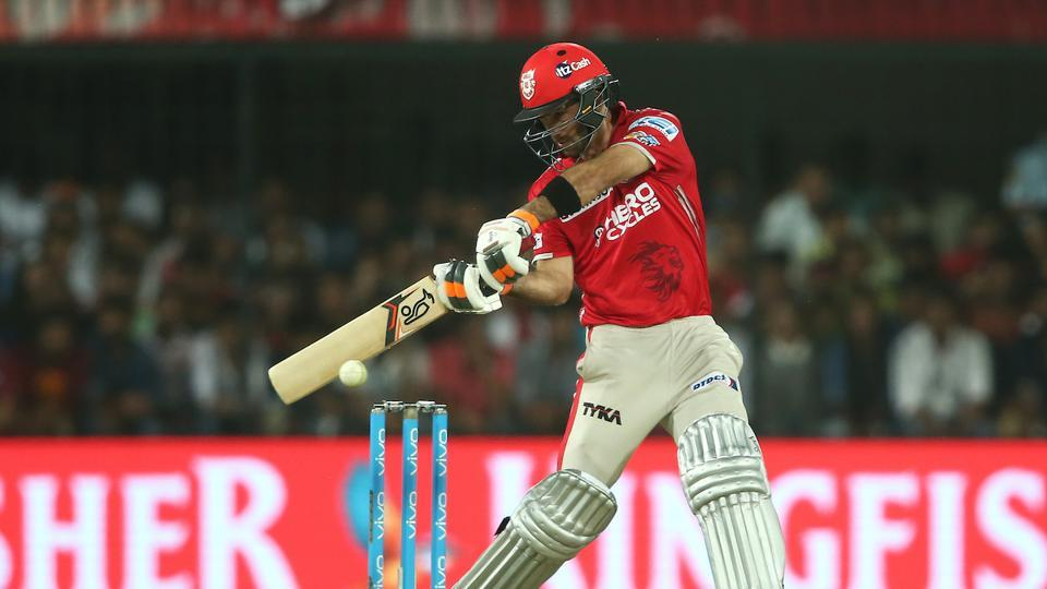 Glenn Maxwell square cuts a delivery to the boundary during match 4 of  2017 Indian Premier League between the Kings XI Punjab and the Rising Pune Supergiants held at the Holkar Cricket Stadium in Indore.  Get full cricket score of Kings XI Punjab vs Rising Pune Supergiants here